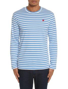 Long Sleeve Stripe Crewneck T Shirt by Comme Des GarÇons Play