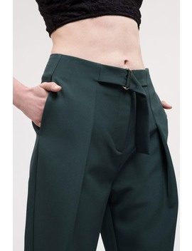 Cropped Buckle Front Trousers by J.O.A.