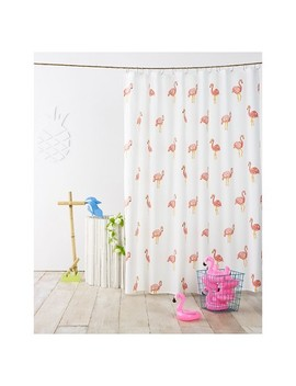 Flamingo Shower Curtain Ivory   Pillowfort™ by Pillowfort
