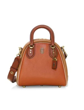 Marleigh Colorblock Leather Satchel by Coach