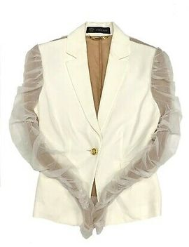 Authentic Gianni Versace Jacket See Through Sleeve Medusa Button Size 38 Rank Ab by Gianni Versace