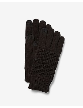 Touchscreen Compatible Waffle Gloves by Express