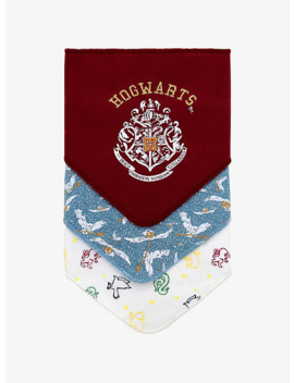 Harry Potter Hogwarts Bandana Bib Set   Box Lunch Exclusive by Box Lunch