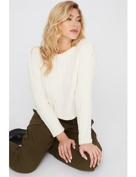 Teddy Ribbed Sweater by Urban Planet