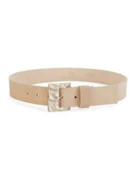 Stassi Pearlized Acrylic Buckle Suede Belt by B Low The Belt