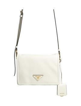Small Glace Calfskin Leather Crossbody Bag by Prada