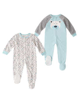 Absorba 2 Pack Blanket Sleeper, Polar Bear by Absorba