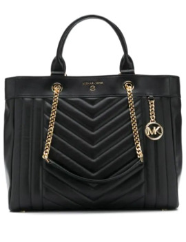 Quilted Logo Tote by Michael Michael Kors