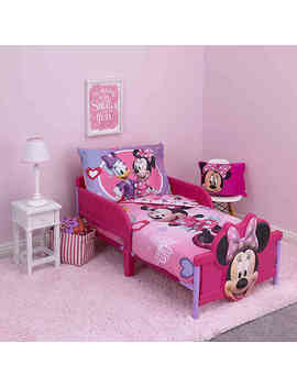 Disney® Minnie Mouse Hearts And Bows 4 Piece Toddler Bedding Set by Bed Bath And Beyond