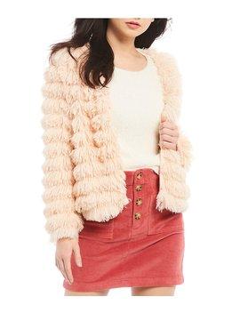 Fuzzy Faux Fur Cozy Jacket by Jolt