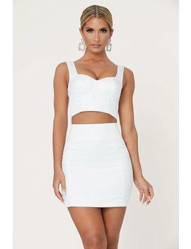 Jodie Mini Skirt   Ivory by Meshki