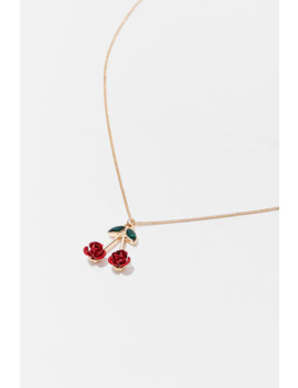 Floral Cherry Pendant Necklace by Forever 21