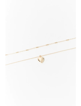 Heart Locket Choker Set by Forever 21