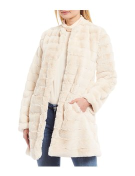 Anything For You Grooved Faux Fur Coat by Bb Dakota