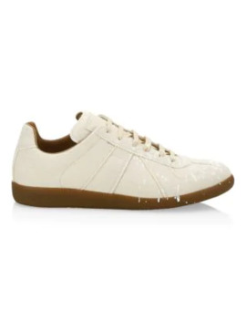 Paint Spatter Low Top Sneakers by Maison Margiela