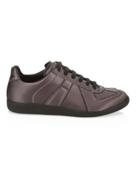 Replica Low Top Satin Sneakers by Maison Margiela