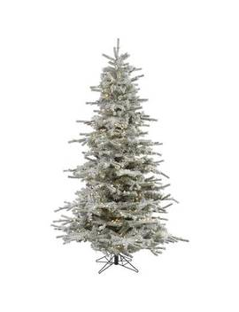 7.5' Flocked Fremont Spruce Christmas Tree With 750 Clear Lights by Vickerman
