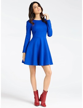 Dress With Round Neck by Guess