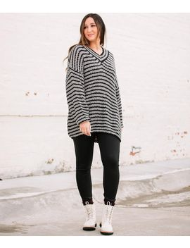 Favlux Striped Chunky Tunic Sweater by Buckle