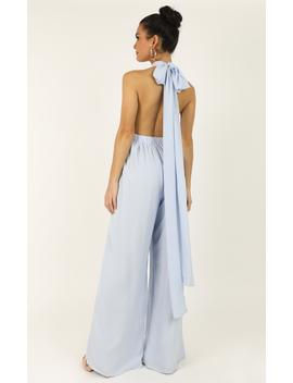 Girls Life Jumpsuit In Light Blue by Showpo Fashion