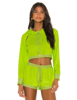 Cut Out Cropped Hoodie by Luli Fama