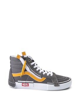 Vans Sk8 Hi Cut & Paste Skate Shoe   Gray / Yellow by Vans