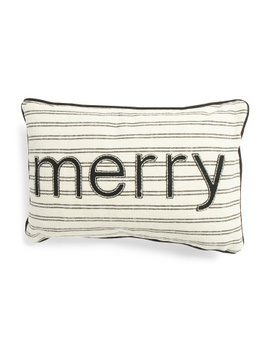 14x20 Merry Stripe Pillow by Tj Maxx