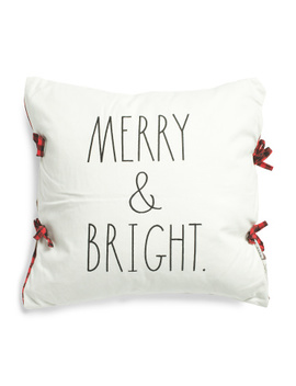 20x20 Merry & Bright Pillow by Tj Maxx