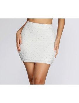Effortless Beauty Pearl Mini Skirt by Windsor