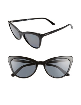 56mm Polarized Cat Eye Sunglasses by Prada