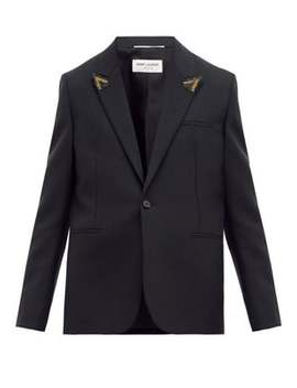 Single Breasted Striped Wool Blazer by Saint Laurent