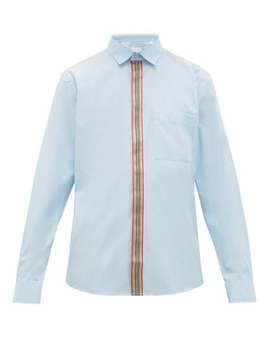 House Stripe Placket Cotton Shirt by Burberry