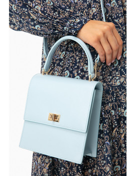 Steel Leather Mini Lady Bag by Neely & Chloe
