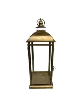 "18.5"" Gold Metal Lantern By Ashland® by Ashland"