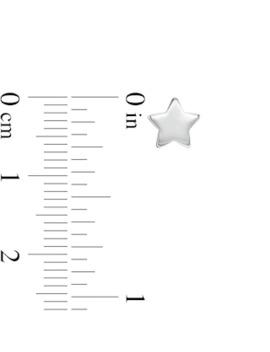 Star Stud Earrings In 14 K White Gold by Zales