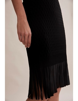 Compact Knit Fringe Skirt by Country Road