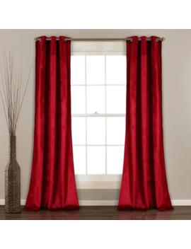 Porch & Den Lapeyrous Velvet Solid Room Darkening Window Curtain Panel Set by Porch & Den