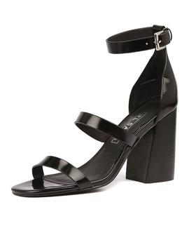 Aubrey Heel Ii Black Gloss Leather by Sol Sana