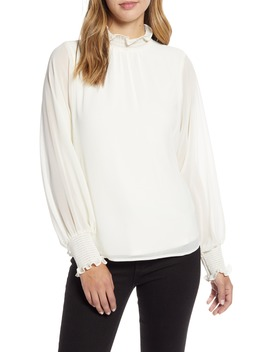 Batwing Chiffon Top by Vince Camuto