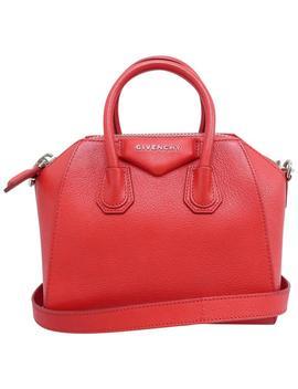 Mini Antigona Red Calfskin Leather Satchel by Givenchy