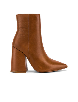 Ahara Bootie In Tan Burnished by Alias Mae