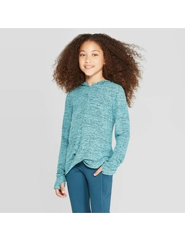 Girls' Twist Front Cozy Long Sleeve Hoodie   C9 Champion® by C9 Champion