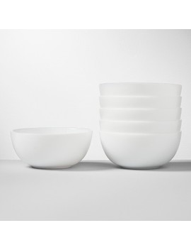 Glass Bowl 16oz White   Made By Design™ by Shop Collections