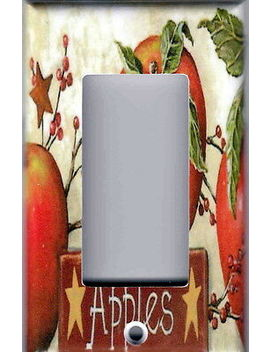 Apples Barn Star Berries Kitchen Decor Gfi Outlet Rocker Light Switch Plate by Leviton