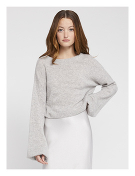 Ansley Wide Sleeve Cropped Sweater by Alice And Olivia