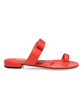 Louisa Flat Leather Sandals by Salvatore Ferragamo