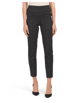 Window Pane Printed Ponte Pants by Tj Maxx