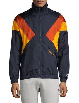 Logo Embroidered Colourblock Jacket by Champion Reverse Weave