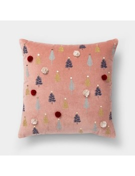Embroidered Trees Square Throw Pillow   Opalhouse™ by Shop Collections