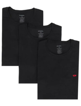 Pacote 3 Camisetas Com Logo Bordado by Diesel